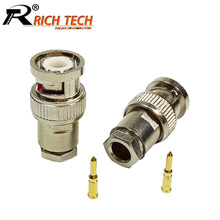 Buy 10pcs BNC Male Plug Connector Clamp Type BNC RG58/RG59/RG6 CCTV Security Coax Coupler Video BNC Connector Adapter for $8.58 in AliExpress store