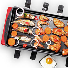 household Large capacity double-layer multi-functional electric oven smokeless electric grill pan good home party helper