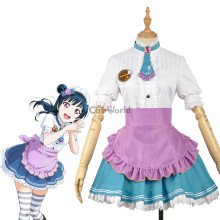 LoveLive!Sunshine!! Tsushima Yoshiko Valentine's day Maid Apron Dress Uniform Outfit Anime Cosplay Costumes