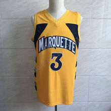 2018 New Dwayne Wade #3 College Marquette Golden Eagles Basketball Jersey All Size Embroidery Stitched(China)