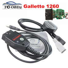 OBD OBD2 Auto ECU Chip Tuning Interface EOBDII Programmer Galletto 1260 Read&Write Car's ECU EOBD-1260 FT232RL Working EDC15/16(China)