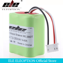 ELEOPTION 7.2V 2.5mAh For iRobot Roomba Braava 380 & 380T Vacuum Replacement NI-MH Battery High Quality Rechargeable Battery(China)