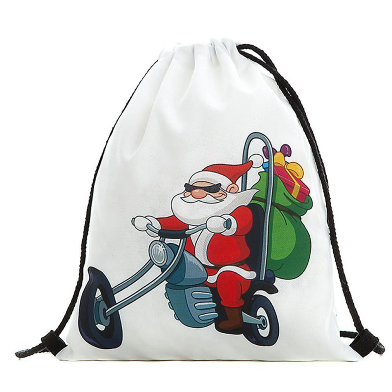 2018 New Ocardian Christmas Candy Gift Bundle Pocket Santa Claus Snowman Printed bag breathable Backpacks for Travel Daily C041712