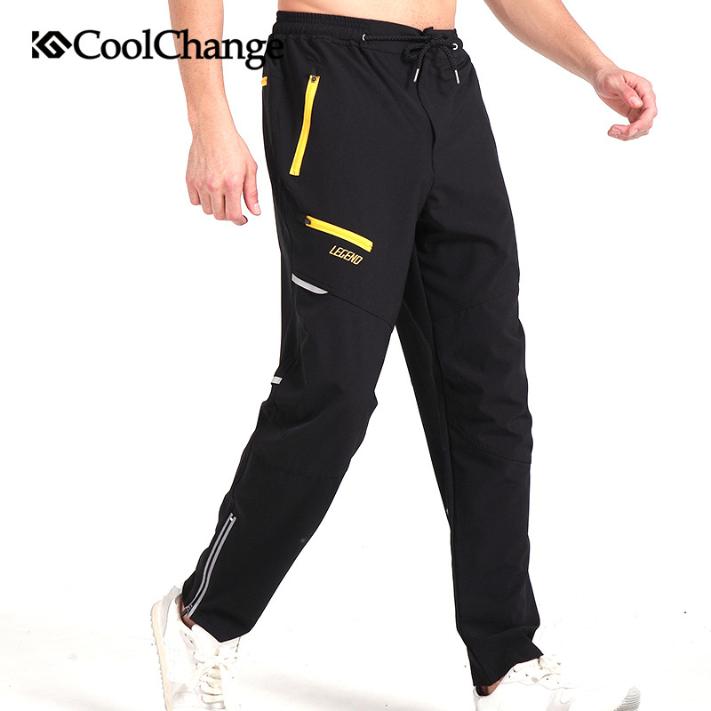 Coolchange Mens Cycling Pants Black Breathable Thermal Fleece Long Trousers Mountain Bike Downhill MTB Sports Pants for Winter<br><br>Aliexpress