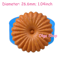 QYL036 26.6mm Round Cookie Silicone Mold - Sugarcraft, Cake Decoration, Fondant, Cabochon Candy, Biscuit, Chocolate, Resin Icing(China)