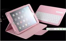 Blueteeth Keyboard Case for iPad Air 1/ Air 2 Luxury Leather Folio Stand Bluetooth Keyboard Cover for Apple iPad Pro 9.7 Case