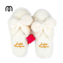 Millffy fluffy slippers indoor plush slippers cute female woman flip flop kawaii slipper shoes floor white slippers(China)