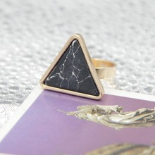 6pcs/lot new arrival items fashion jewelry accessories big synthetic stone triangle ring