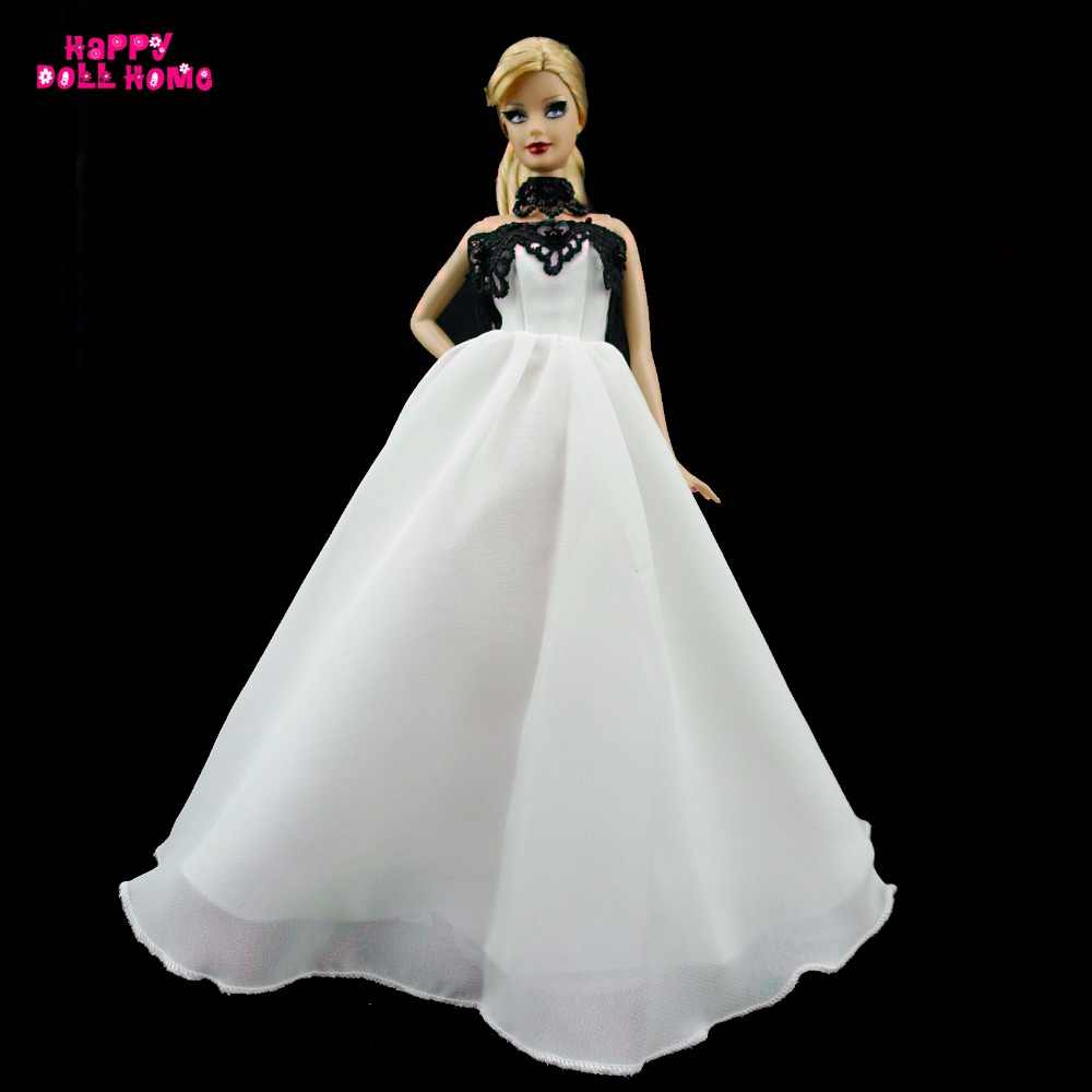 Handmade Dinner Party Dress Princess Gown Outfit Clothes For Barbie Doll  For Vintage Doll Accessories With 3137b3dea357