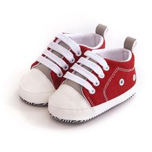 Lovely Baby Sneakers Newborn Baby Crib Shoes Girls Toddler Laces Soft Sole Shoes(China)