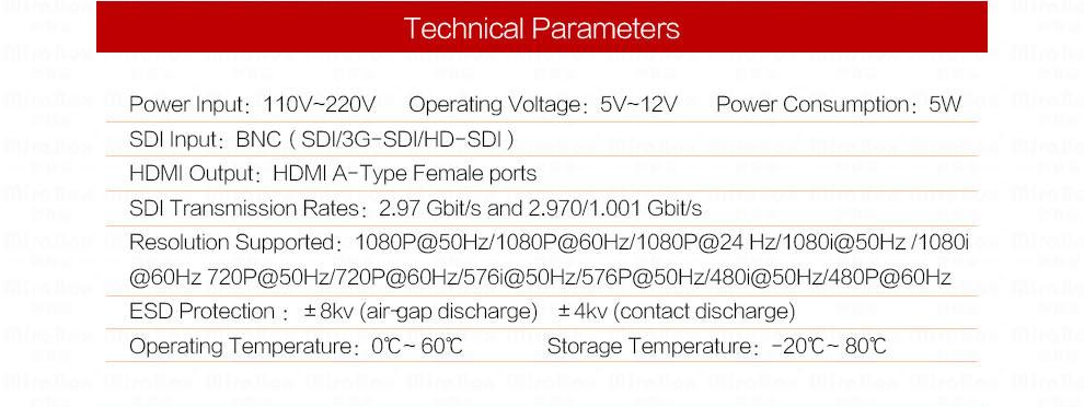 Mini 3g HDMI To SDI Converter Full HD 1080P HDMI to SDI Adapter Video Converter with Power Adapter for Driving HDMI Monitors (7)