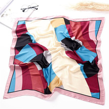 Womens Ladies Silk Handkerchiefs Square Print Elegant Creative Gifts Scarves Head Wrap Shawl Mini Towels Handkerchiefs 6Q0106