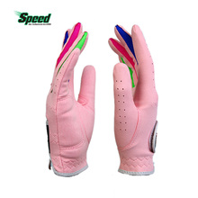 New Arrival PGM Brand Boys Girls Outdoor Sport Superfine Fiber Cloth Golf Gloves Breathable Anti-slipping Gloves Pair 2 Color(China)