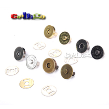 10set Magnetic Snap Fasteners Clasps Buttons Handbag Purse Wallet Craft Bags Parts Accessories 14mm 18mm Pick Colors(China)