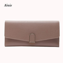 2017 New Design Women Wallets Ladies High Quality Leather Coin Purse Large Capacity Cute Card Hold Long Purses Dropshipping(China)
