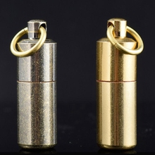 Portable Waterproof Fire Lighter Mini Capsule Shape Oil Gas Lighter Fire Starter Hiking Camping Use Cigarette Accessorie NO GAS(China)