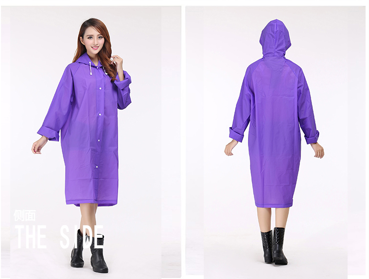 Women Transparent Portable Long Raincoats 11b
