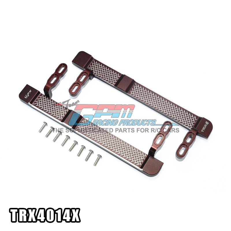 TRAXXAS TRX-4 TRX4 82056-4 aluminum alloy side steps footboard glittering reticular style adjustable-set TRX4014X free shipping<br>