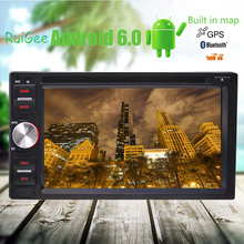 Qual core Android 6.0 Car DVD CD Player Double 2 Din Car Head unit Stereo 6.2'' HD Touch Screen In Dash GPS Navi Auto Radio()