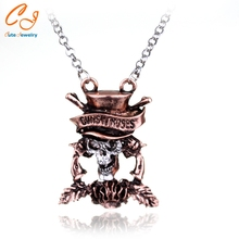 metallica rock band The Beatles necklace Head Skull G N' R GnR Guns N 'Roses Chain Necklace for men & women best Halloween gifts