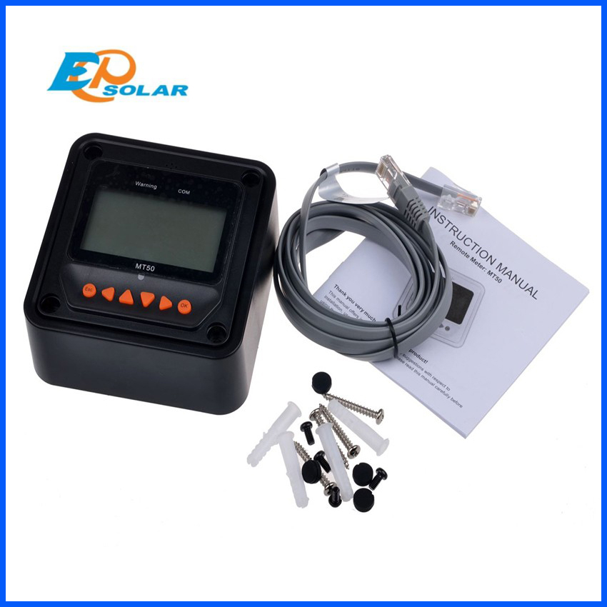 EPSOLAR-MT50-remote-meter-LCD-Display-epever-LandStar-Viewstar-Tracer-solar-controller-Black-color