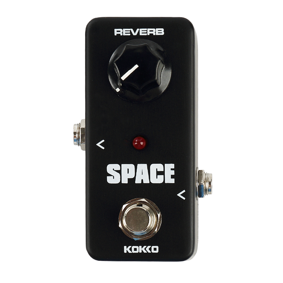KOKKO FRB2 Mini SPACE Reverb Guitar Effect Pedal Black Portable Guitar Effects Pedal Stompbox Guitar Parts Accessories<br>