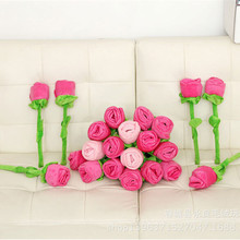 30cm 40cm Creative 1pcs Roses Bouquets Flower Curtains Buckle Plush Toys DIY Home Wedding Decoration Children Gifts(China)