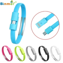 Binmer Micro USB Charging Cable Wristband Charging Data Line Sync Cord For Android Cell Phone High Quality 2017 New OCTX9