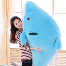 Dorimytrader 78'' / 200cm Huge Stuffed Soft Plush Lovely Large Animal Dolphin Toy 2 Colors Nice Kids Gift Free Shipping DY60446