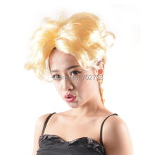 Golden Fiber Synthetic Wig  Weaving Braid Hair Halloween Carnival  Day Cosplay Wigs