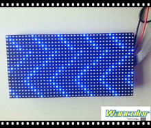 p10 semi-outdoor single blue color Advertising LED Message sign Module 320*160mm size with Free Hub Cable & Power Cable&magnet
