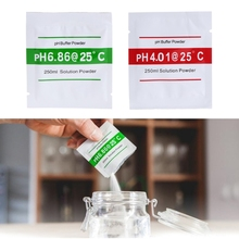 OOTDTY 4 Pcs PH Buffer Solution Powder PH For Test Meter Measure Calibration 4.01 6.86 Each Pack Makes 250mL Of Buffer Solution(China)