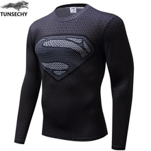 Buy New 2017 Brand Clothing Fitness Compression Shirt Men Superman Bodybuilding Long Sleeve 3D T Shirt Crossfit Super Tops Shirts for $8.99 in AliExpress store