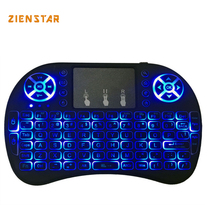 High quality Mini Wireless Keyboard 3 color LED backlit 2.4GHz Air FLY Mouse Remote Control Touchpad For Android TVBox Tablet Pc(China)