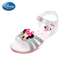Disney kids sandals summer child Minnie toe student shoes Girl Casual sandals Size 26-31 DS1991(China)