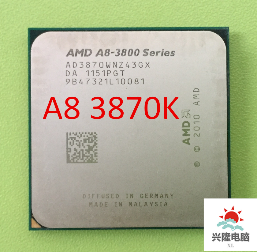 Free shipping AMD A8 3870K FM1 3.0GHz 4MB 100W CPU processor FM1 scrattered pieces A8-3870 APU Integrated