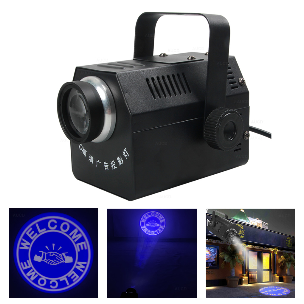 GOBO Projector Light Logo Projector Lamp for Store Wedding Restaurant Event Advertising Signs 15W HD Pattern Projection lamp
