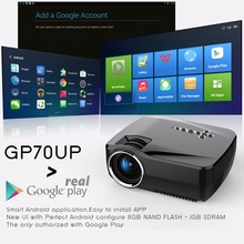 1200 Lumens 1920x1080P Analog TV LED Projector Wifi Projector for Home Cinema 3D Android 4.4 Bluetooth Mini Video Projector