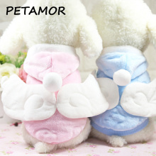 PETAMOR Lovely Angel Wings Pet Dog Clothes Fleece Dog Hoodies For Small Dogs Pets Clothing For Dogs Coat Jakets Pets Products(China)