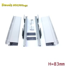 Premintehdw L=500mm Double Wall Soft Close Drawer Slide Runners Kitchen Bath Furniture Cabinet(China)