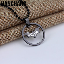 Buy Movie Super Hero Batman Necklace Hollow-out Bat Batman Pendant Stainless Steel Necklace Beaded Chain Fans Christmas Gifts for $1.50 in AliExpress store