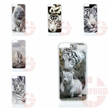 Accessories Case an animal white tiger burning bright For Apple iPhone 4 4S 5 5C SE 6 6S 7 7S Plus 4.7 5.5 iPod Touch 4 5 6