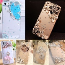 Fashion&Unique DIY Handmade Cover Diamond Bling TPU+PC Acrylic mobile phone Protective shell Case For Huawei P9 lite/G9 lite(China)