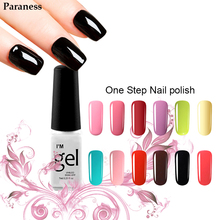 lucky 3in1 Gel Polish Brands Of Nail Polish Beauty Supplies 24 Pure Color Foil Adhesive Gel Varnish False Nails With Glue(China)