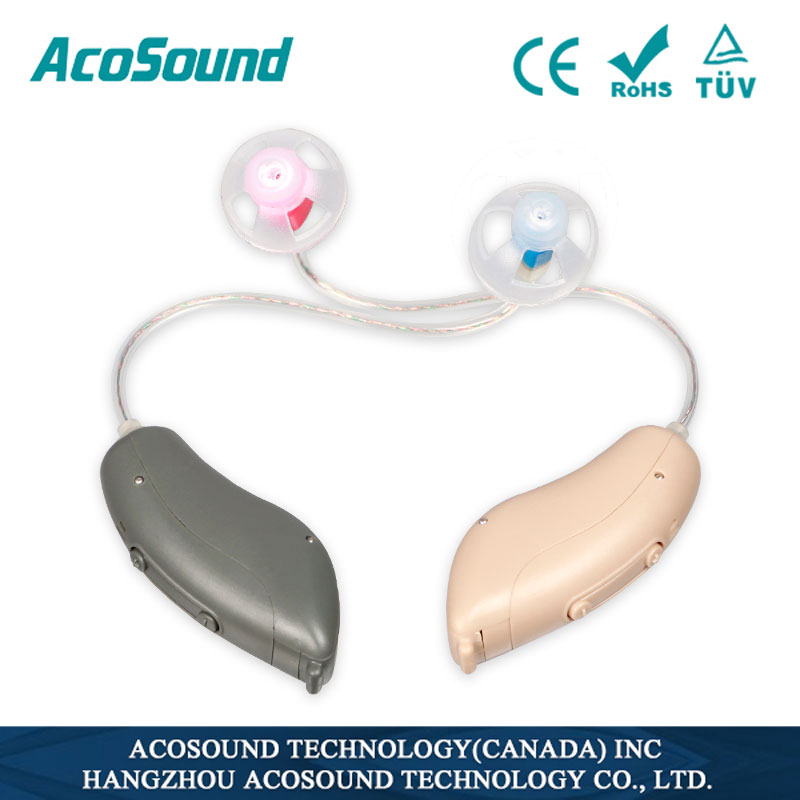 Acosound AI-1 Mini RIC Digital Hearing Aid Programmable Hearing Aids Sound Amplifier Small RIC BTE Headphones Hearing Devices