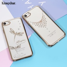 KINGXBAR for iPhone 7 Case for iPhone 7 Plus Case Authorized Swarovski Elements Clear PC Back Phone Cove for Case iPhone 7 Plus