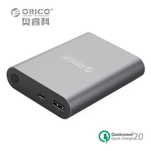 ORICO Q1 QC2.0 Power Bank 10400mA High Capacity Universal Portable Quick Charger For Samsung Xiaomi LG HTC - Gray/Pink