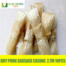 Top sellers !Dry pork sausage casing 13 meters Diameter 28mm-30mml 5pc/bag sausage casingSausage coverSausage skin free shipping(China)