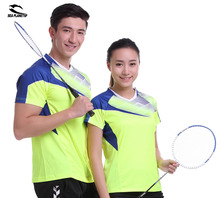 New SEA PLANETSP Sportswear sweat Quick Dry breathable badminton shirt , Women/Men table tennis clothes team Gym yellow T Shirts