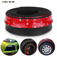 2.5m Car Protector Front Bumper Lip Splitter Car Sticker Body Kit Spoiler Bumpers Valance Chin Car Rubber Strip 60mm Width